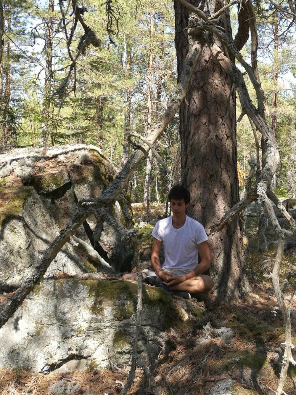 Meditation en forêt